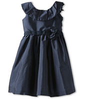 Us Angels - Pleat Collar Silky Taffeta Tank Dress W/ Ribbon Belt (Infant)
