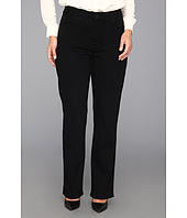 NYDJ Plus Size - Plus Size Marilyn Straight Leg w/ Embellished Pkt in Black