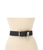 MICHAEL Michael Kors - Michael Kors Belt With Classic Roller And Hamilton Lock Hoop In Logo