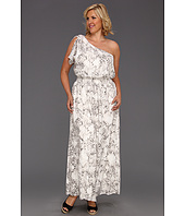 Jessica Simpson - Plus Size One Shoulder Smock Waist Dress