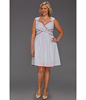Jessica Simpson - Plus Size Cross Front Full Skirt Dress