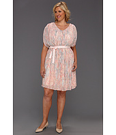 Jessica Simpson - Plus Size V Neck Gathered Drape Dress