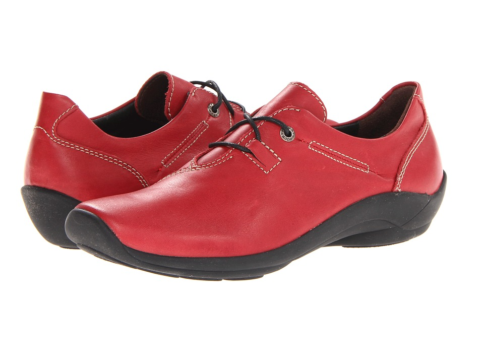 Wolky Rosa (Red Leather) Women