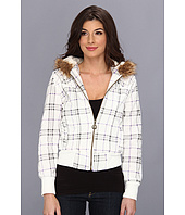 dollhouse - Scottish Plaid Fleece Hooded Zip Coat
