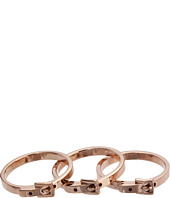 Michael Kors Collection - Buckle Set of 3 Skinny Rings