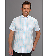 Nautica - Slim Wrinkle Resistant Poplin Medium Plaid S/S Shirt