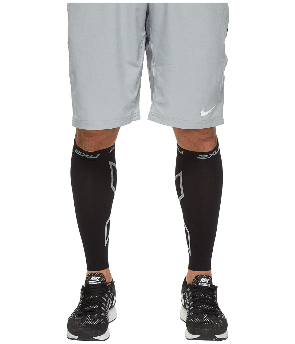 Image of 2XU - Compression Calf Sleeve (Black/Black) Athletic Sports Equipment