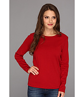 Pendleton - Petite L/S Jewel Neck Cotton Rib Tee