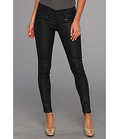 AG Adriano Goldschmied - The Moto Legging in Black Slick