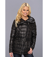 DKNY - Short Down Belted Moto Coat