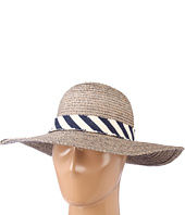 Hat Attack - Raffia Mini Sunhat W/Stripe Band Trim