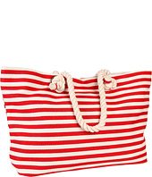 Hat Attack - Beach Stripe Tote W/Zip Out Tablet Cover