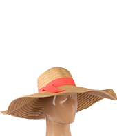 Hat Attack - Straw Braid Sunhat W/Grosgrain Ribbon Trim