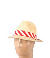 Hat Attack - Raffia Classic Fedroa W/Stripe Band Trim