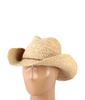 Hat Attack - Raffia Crochet Continental W/Mini Wood Beads Trim