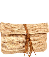 Hat Attack - Raffia Crochet Clutch W/Braid Trim