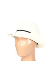 Hat Attack - Toyo Fedora W/Black/White Ribbon Band Trim