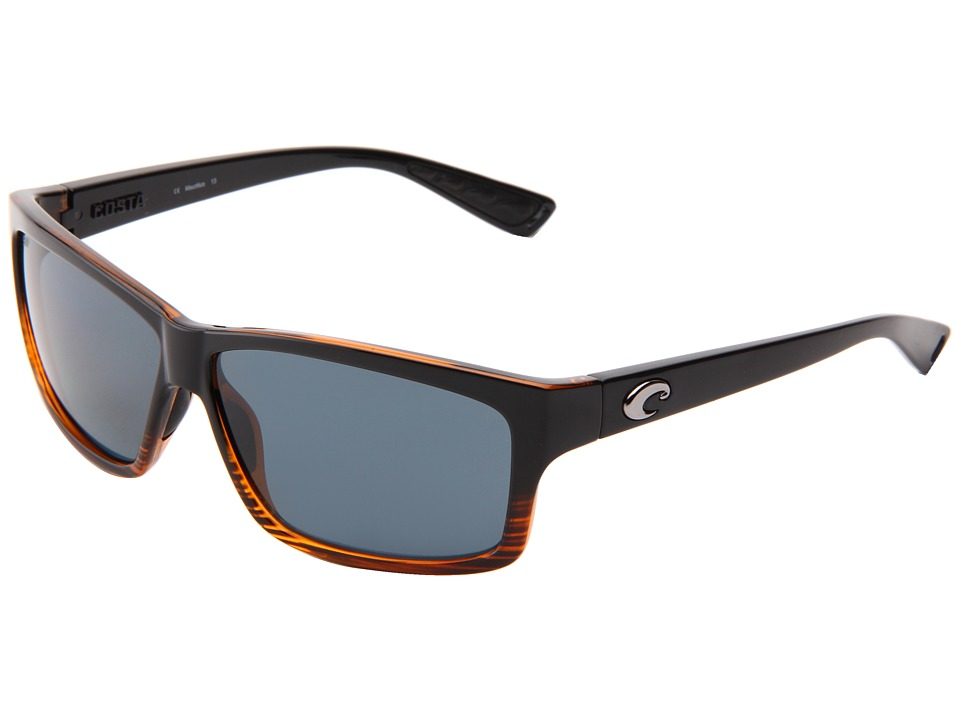 Costa Cut 580 Plastic Coconut Fade/Gray 580 Plastic Lens Sport Sunglasses