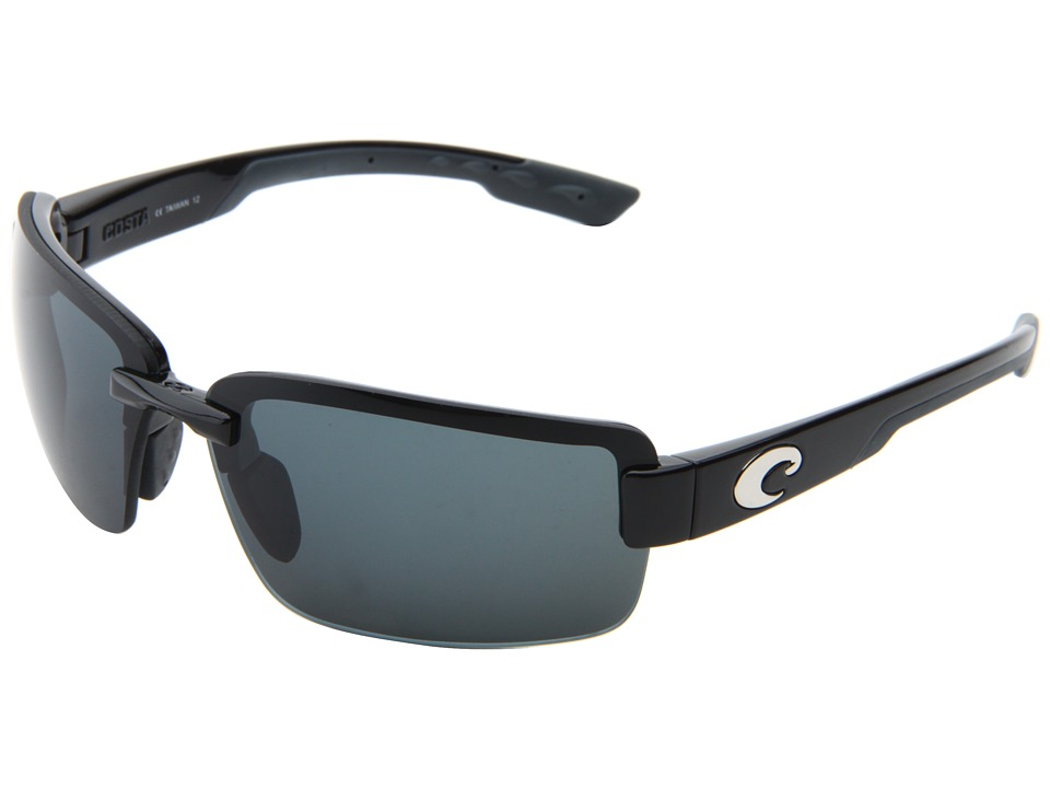 Costa Galveston 580 Plastic Black/Gray 580 Plastic Lens Sport Sunglasses