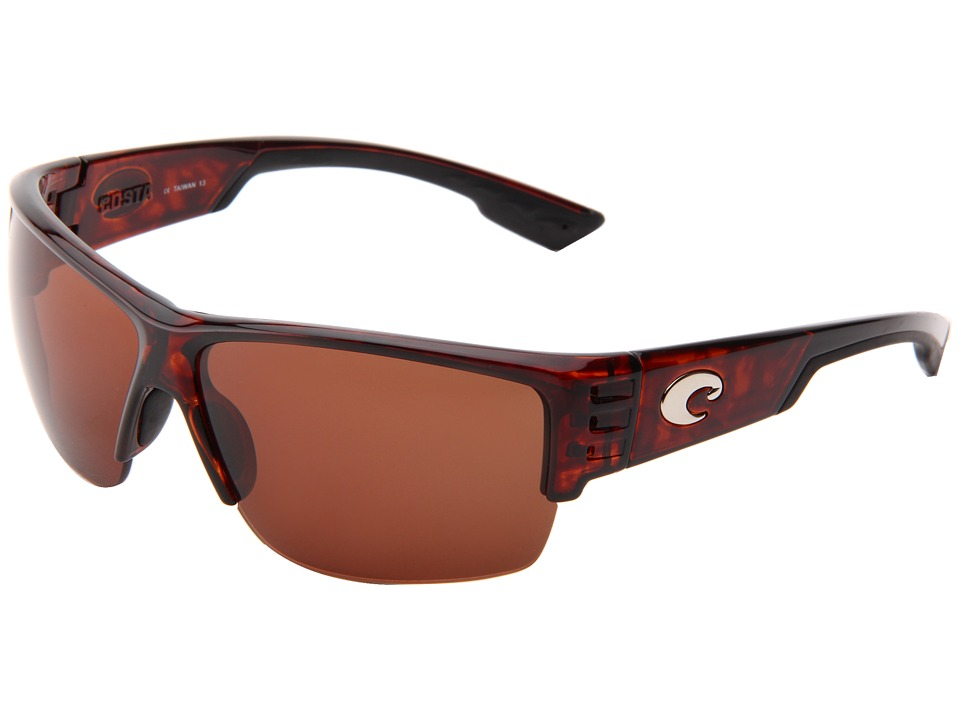 Costa Hatch 580 Plastic Tortoise/Copper 580 Plastic Lens Sport Sunglasses