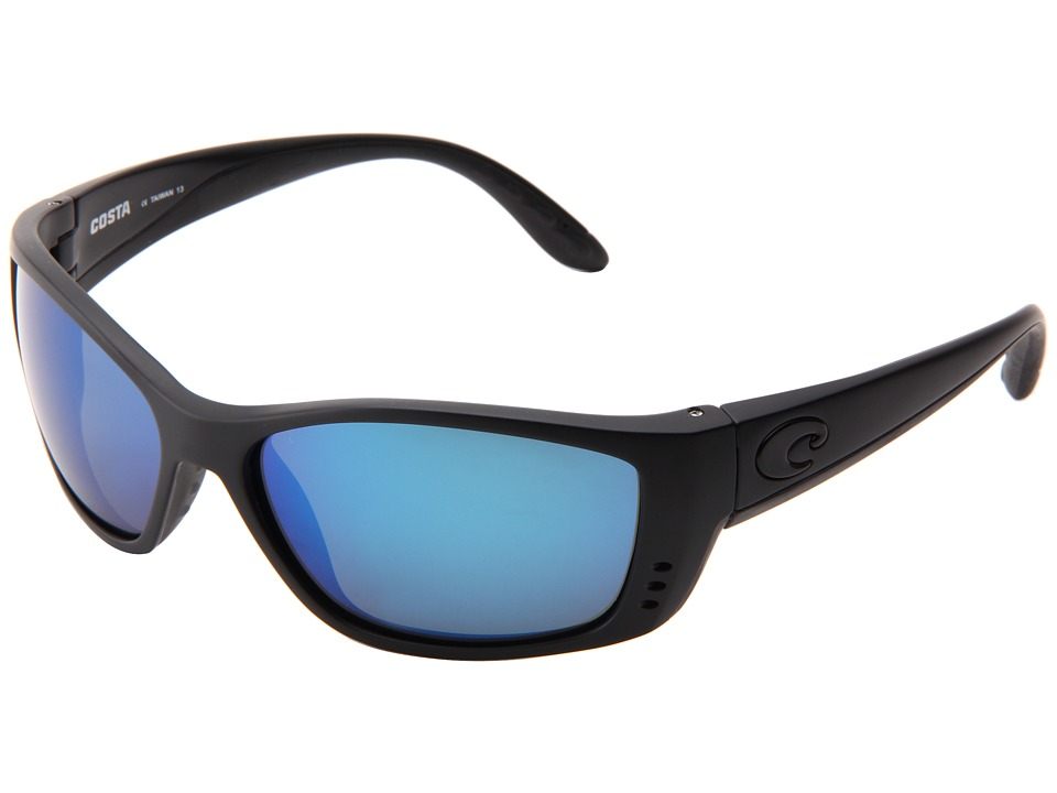 Costa Fisch 580 Mirror Glass Blackout/Blue Mirror 580 Glass Lens Sport Sunglasses