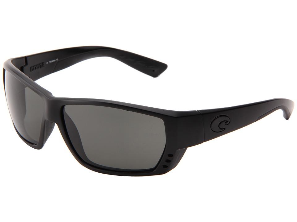 Costa - Tuna Alley 580 Glass (Blackout/Gray 580 Glass Lens) Sport Sunglasses