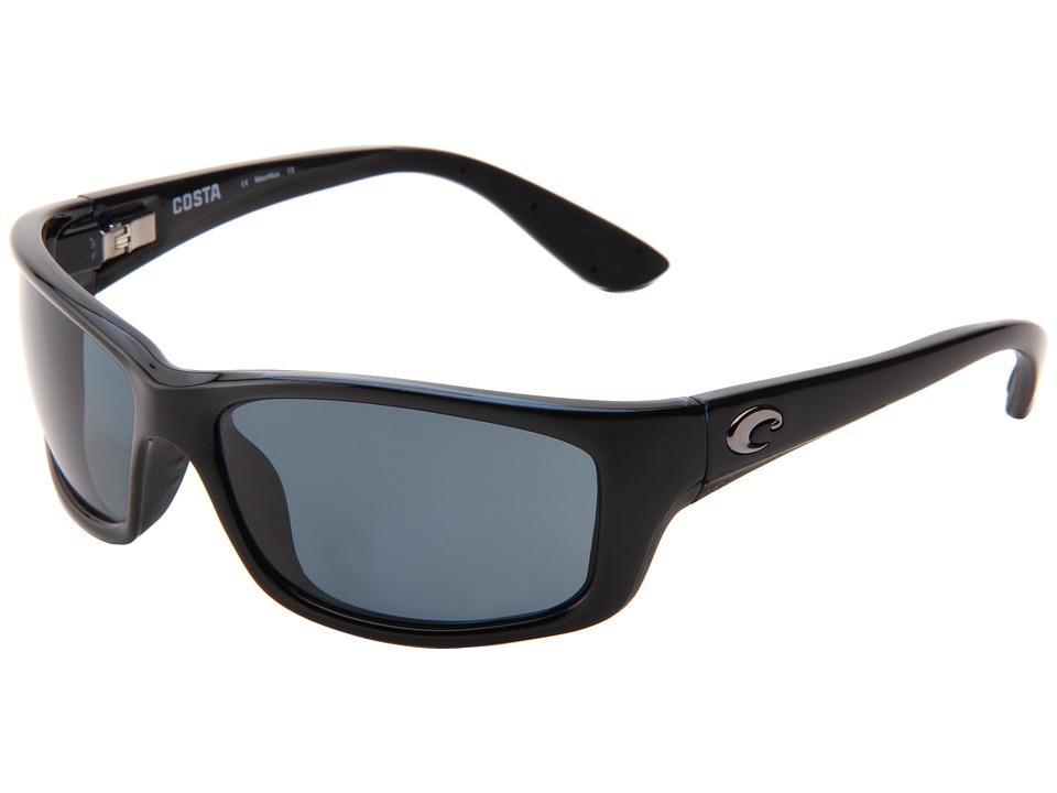 Costa Jose 580 Plastic Black/Gray 580 Plastic Lens Sport Sunglasses
