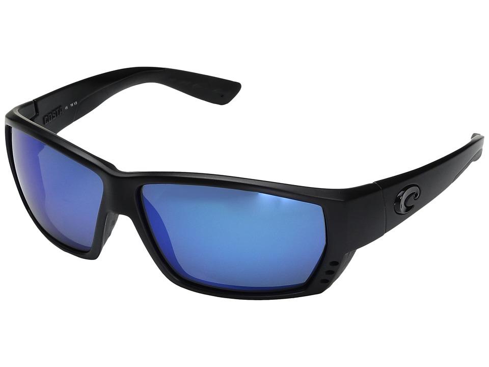 Costa - Tuna Alley 580 Mirror Glass (Blackout/Blue Mirror 580 Glass Lens) Sport Sunglasses