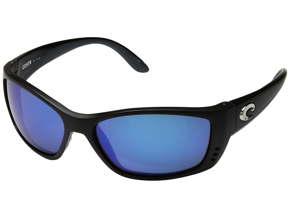 Costa Fisch 580 Mirror Glass Black/Blue Mirror 580 Glass Lens Sport Sunglasses