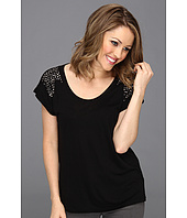 TWO by Vince Camuto - S/S Tee W/Studded Shoulders