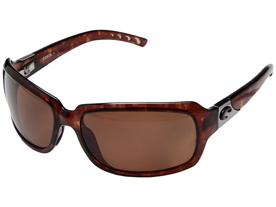 Costa Isabela 580 Plastic Tortoise/Copper 580 Plastic Lens Sport Sunglasses