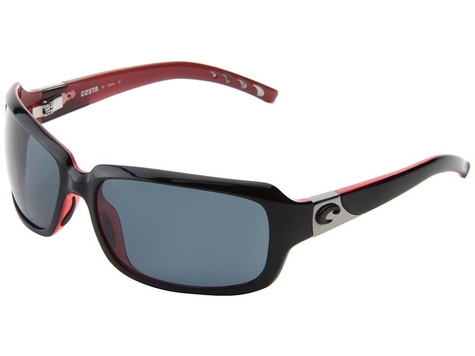 Costa - Isabela 580 Plastic (Black Coral/Gray 580 Plastic Lens) Sport Sunglasses