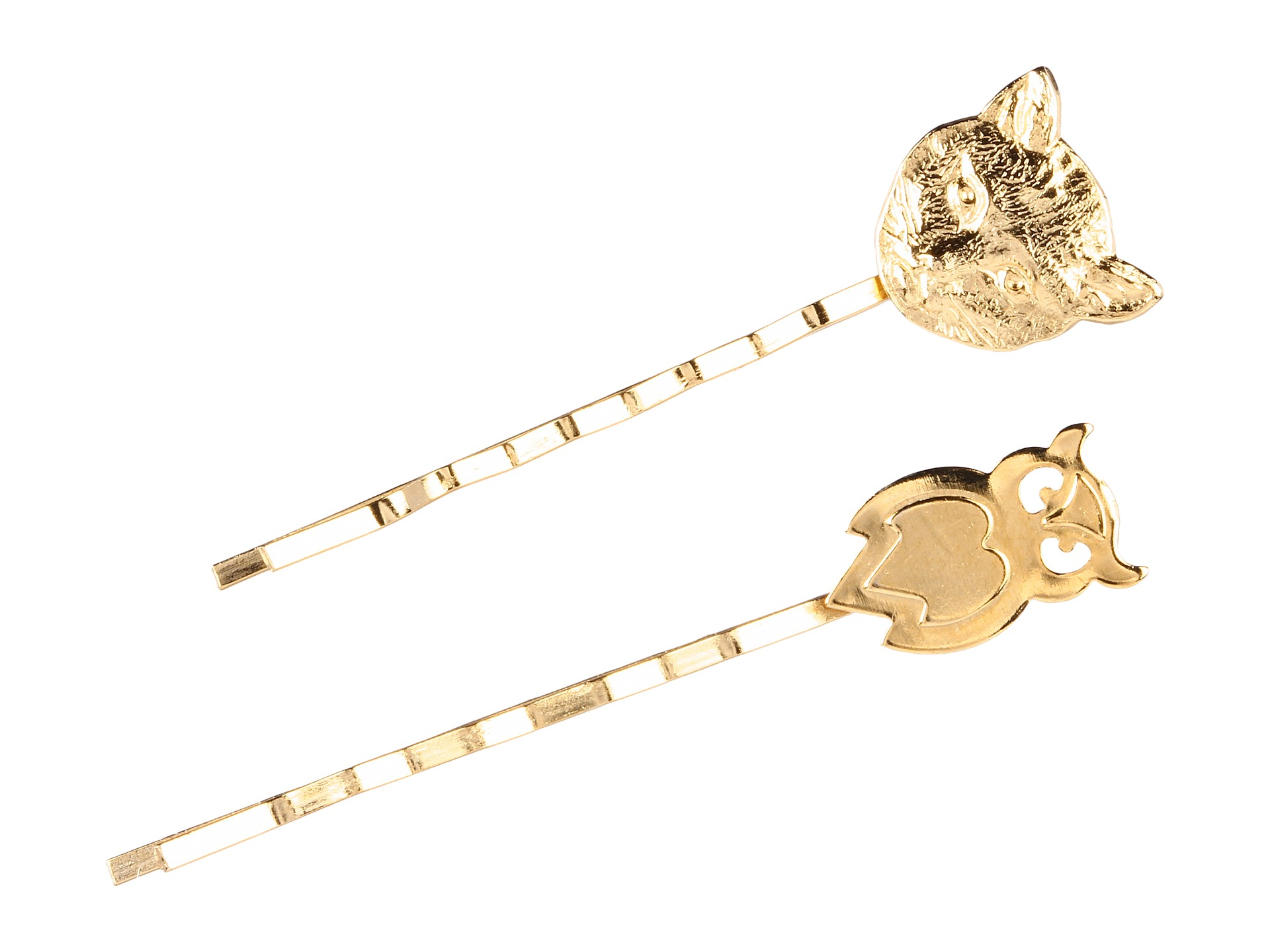 Emily Elizabeth Jewelry - Owl and the Pussycat Bobby Pins (14K Gold Plated) - Jewelry