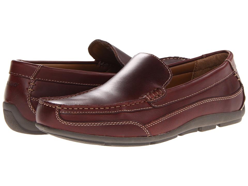 Sebago Captain Dark Brown Pull Up Mens Shoes