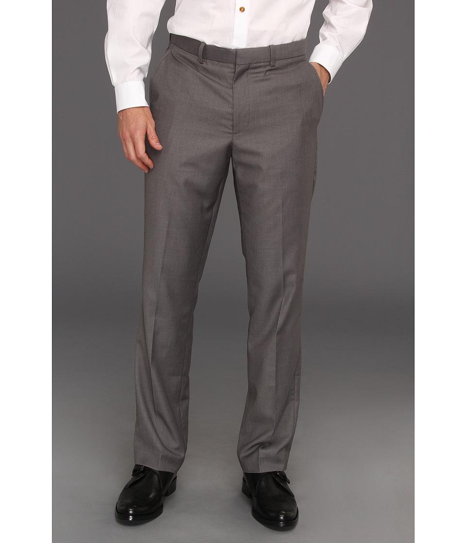 Image of Perry Ellis Regular Fit Solid Suit Pant (Iron Ore Heather) Men's Dress Pants