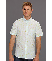 Perry Ellis - Slim Fit Floral Stripe S/S Shirt
