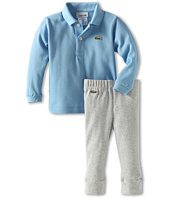 Lacoste Kids - Boy's L/S Polo And Pant Baby Gift Set (Infant)