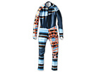 Spyder Kids - Boys' Performance GS Race Suit (Big Kids) (Coast Atlantic Stripe/Pos/Bryte Orange) - Apparel