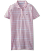 Lacoste Kids - Girls' S/S Fine Stripe Tunic Polo (Toddler/Little Kids/Big Kids)