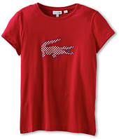 Lacoste Kids - Girl's S/S Polka Dot Croc T-Shirt (Toddler/Little Kids/Big Kids)