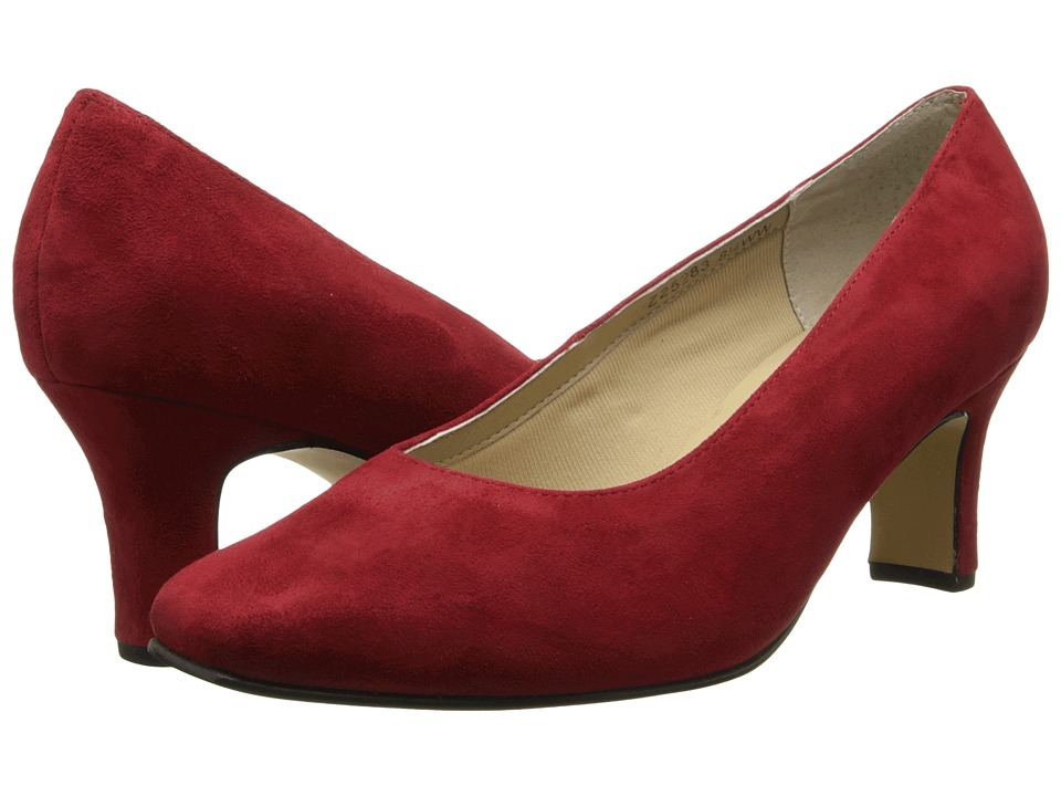 Fitzwell Vincent Pump (Red Suede) High Heels