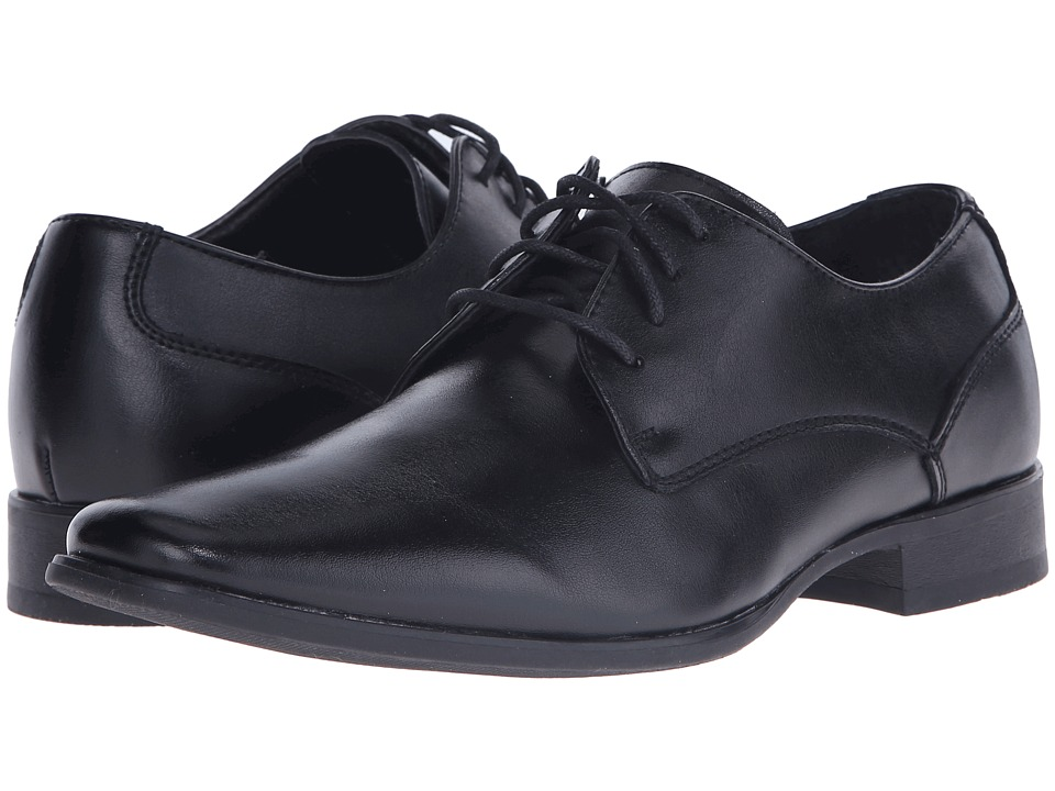 1940s Men's Fashion Clothing Styles Calvin Klein Brodie Black Mens Lace up casual Shoes $110.00 AT vintagedancer.com