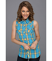 Roper - 8451 Bright Ombre Plaid Slvls Shirt