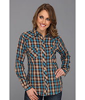 Roper - 8399 Brown & Turquoise Plaid