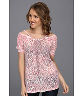 Roper - Cold Shoulder Tee W/Pink Swirl Sublimation