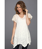 Roper - Rose Floral Burnout Jersey Tunic
