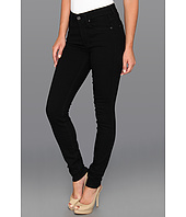 7 For All Mankind - The Skinny w/ Squiggle Second Skin Slim Illusion Black