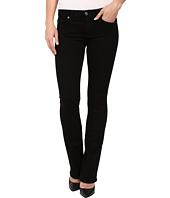 7 For All Mankind - The Skinny Bootcut w/ Squiggle Second Skin Slim Illusion Black