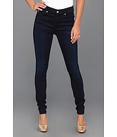 7 For All Mankind - The High Waist Skinny in Blue Black Sateen
