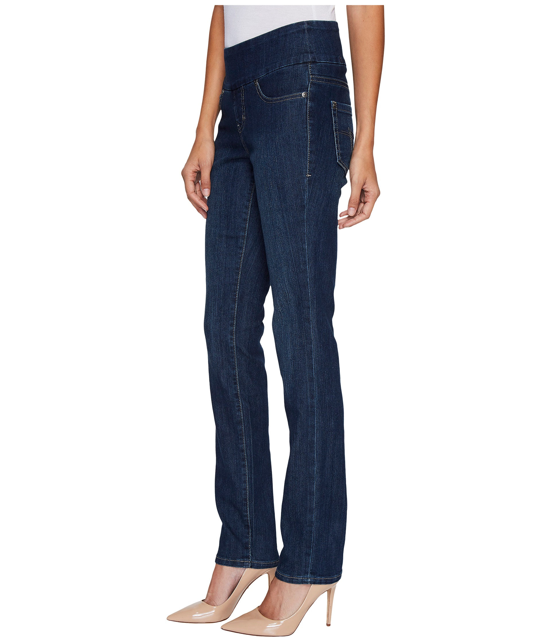 Jag Jeans Malia Pull-On Slim in Blue Shadow - Zappos.com Free ...